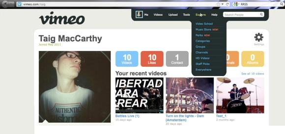 perfil vimeo