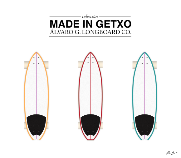 Made in Getxo Álvaro G longboards